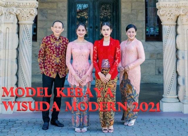 Model Kebaya Wisuda Modern 2021